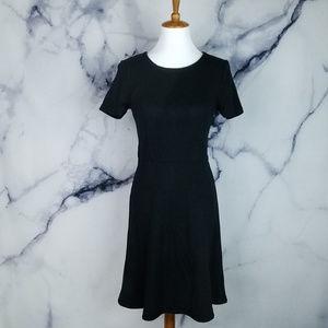 Madewell Dress Medium Black Gallerist Short Sleeve